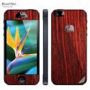 木製背面スキンシート TRUNKET ブラッドレッド iPhone SE/5s/5