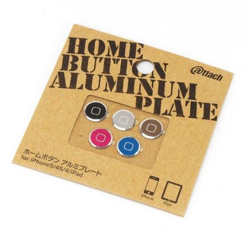 超軽量・極薄のアルミ製 ホームボタン アルミプレート  iPhone/iPad Aタイプ