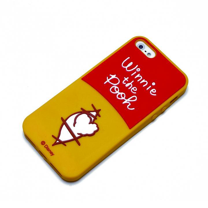 ディズニー iPhone SE/5s/5用シリコンケース くまのプーさん