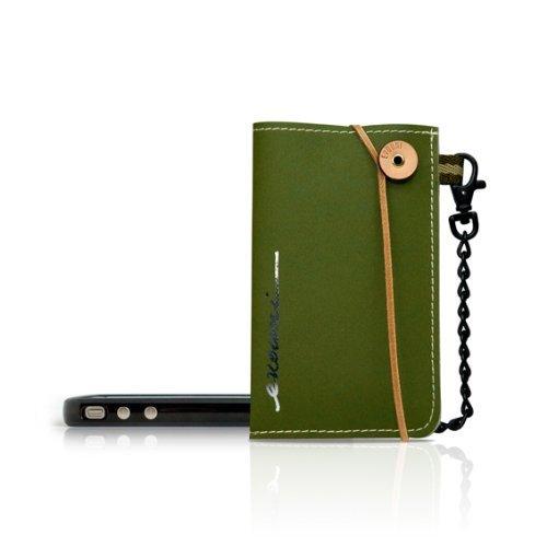 iPhone SE/5s/5 ケース Non-Tear スマートフォンポーチ Olive Green_0