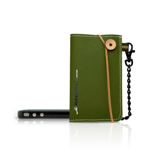 【iPhone SE/5s/5ケース】Non-Tear スマートフォンポーチ Olive Green_0