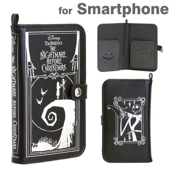 iPhone6/SE/5s/5 ケース ディズニーキャラクター/Old Book 手帳型ケース スマートフォン ナイトメアー・ビフォア・クリスマス_0
