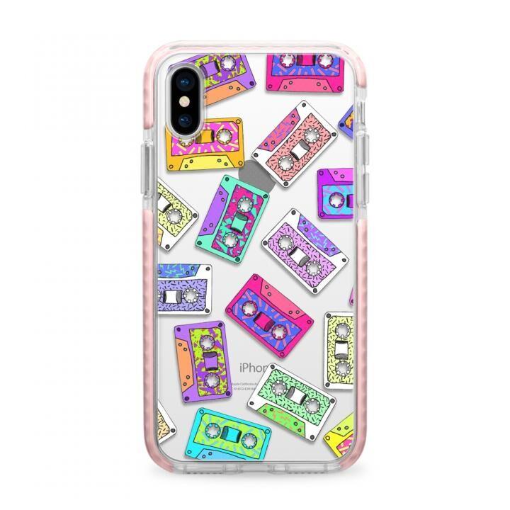 iPhone X ケース Casetify RETRO THROWB Pink Impact case iPhone X_0