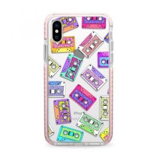 iPhone X ケース Casetify RETRO THROWB Pink Impact case iPhone X