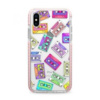 iPhone X ケース Casetify RETRO THROWB Pink Impact case iPhone X