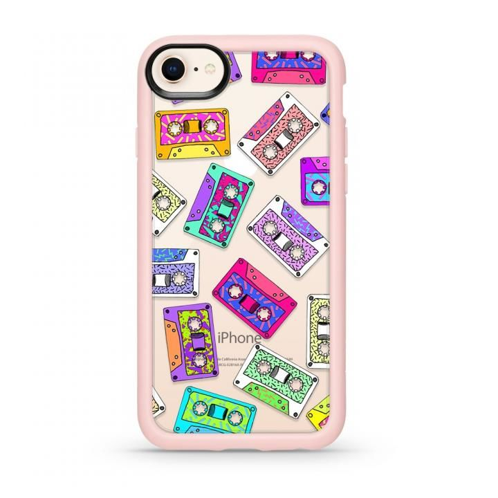 【iPhone8ケース】Casetify RETRO THROWB Pink Grip case iPhone 8_0