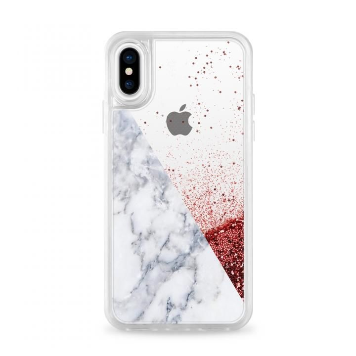 iPhone X ケース Casetify MARBLE SIDE Pink Glitter case iPhone X_0