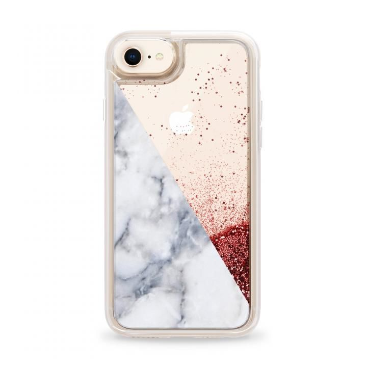 iPhone8 ケース Casetify MARBLE SIDE Pink Glitter case iPhone SE 第2世代/8_0