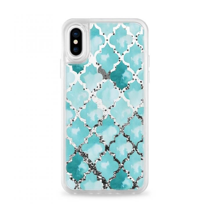 iPhone X ケース Casetify MOROCC.TILES Silver Glitter case iPhone X_0