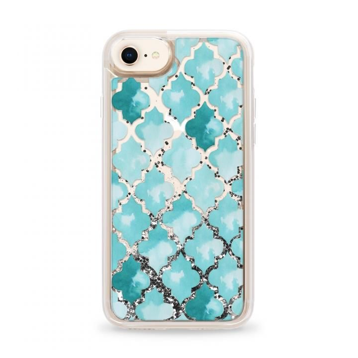 iPhone8 ケース Casetify MOROCC.TILES Silver Glitter case iPhone SE 第2世代/8_0