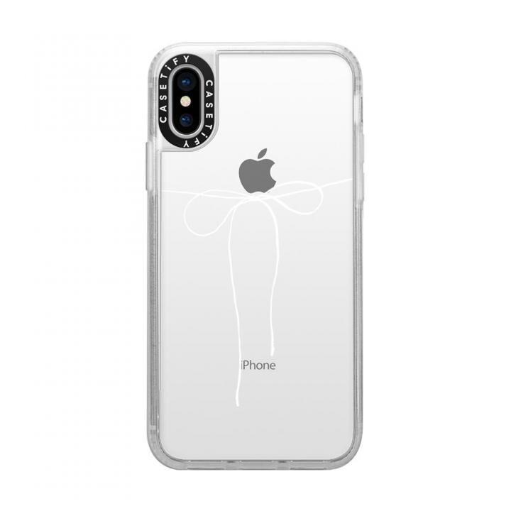 iPhone XS/X ケース Casetify TAKE A BOW II - BLANC grip clear iPhone XS/X_0