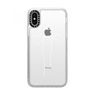 iPhone XS/X ケース Casetify TAKE A BOW II - BLANC grip clear iPhone XS/X【2月上旬】