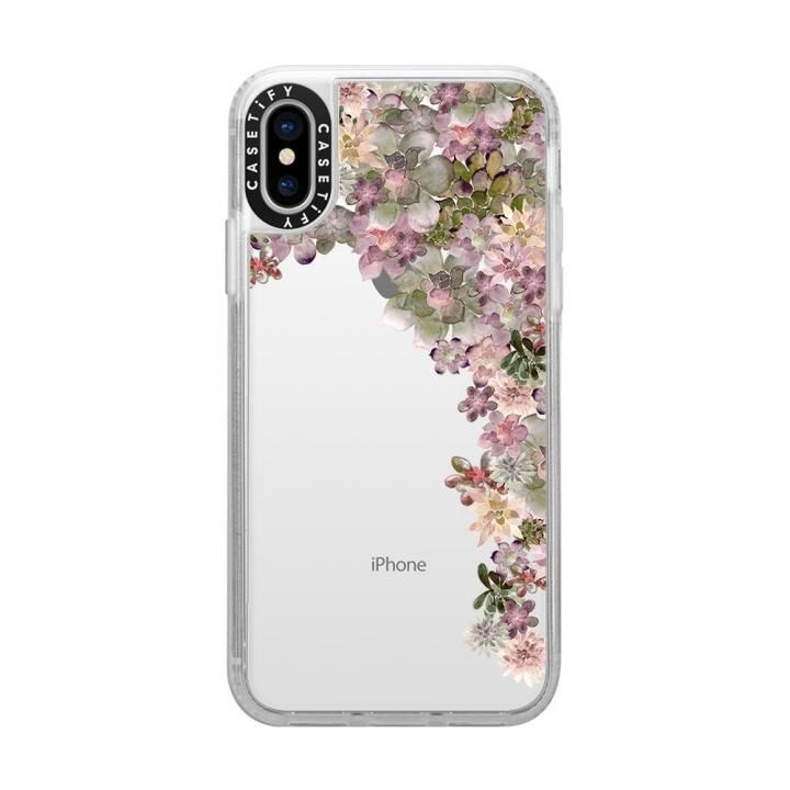 iPhone XS/X ケース Casetify MY SUCCULENT GARDEN ROSE grip clear iPhone XS/X_0