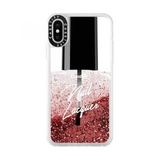 iPhone XS/X ケース Casetify GLITTER NAIL LACQUER glitter rose pink iPhone XS/X