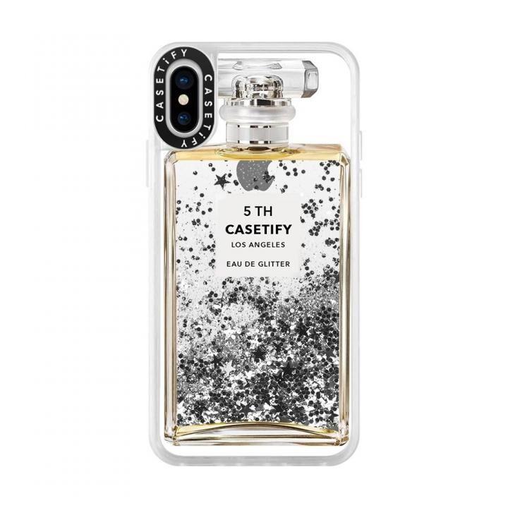 iPhone XS/X ケース Casetify MISS PERFUME 2 glitter silver iPhone XS/X_0