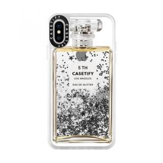 iPhone XS/X ケース Casetify MISS PERFUME 2 glitter silver iPhone XS/X