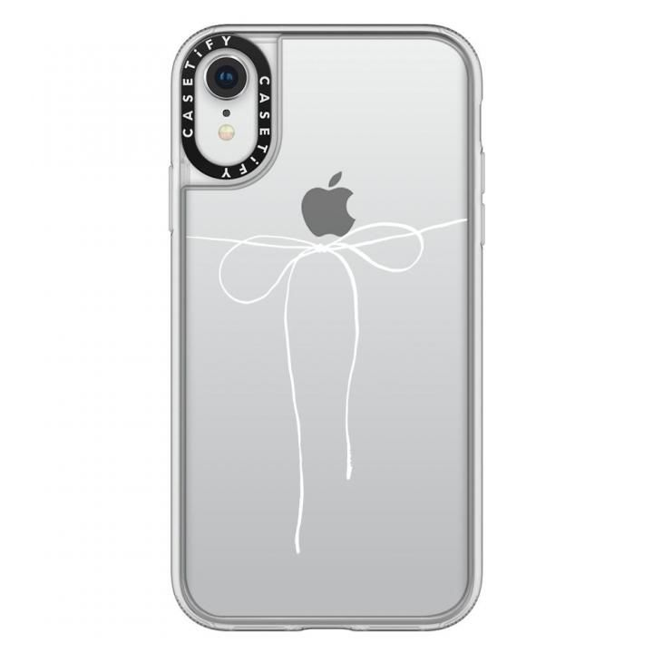 【iPhone XRケース】Casetify TAKE A BOW II - BLANC grip clear iPhone XR_0