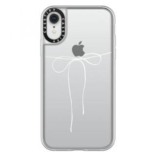【iPhone XRケース】Casetify TAKE A BOW II - BLANC grip clear iPhone XR【1月下旬】