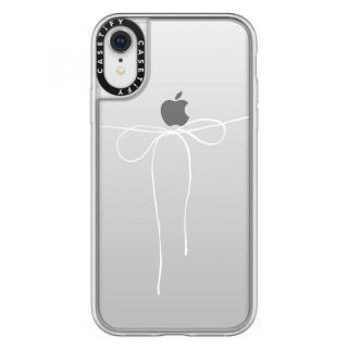 【iPhone XRケース】Casetify TAKE A BOW II - BLANC grip clear iPhone XR【2月上旬】