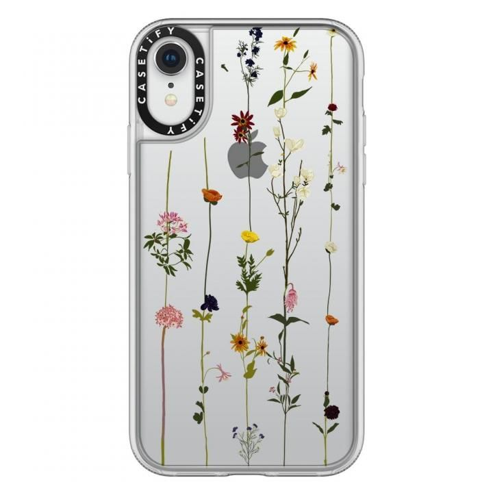 【iPhone XRケース】Casetify FLORAL grip clear iPhone XR_0