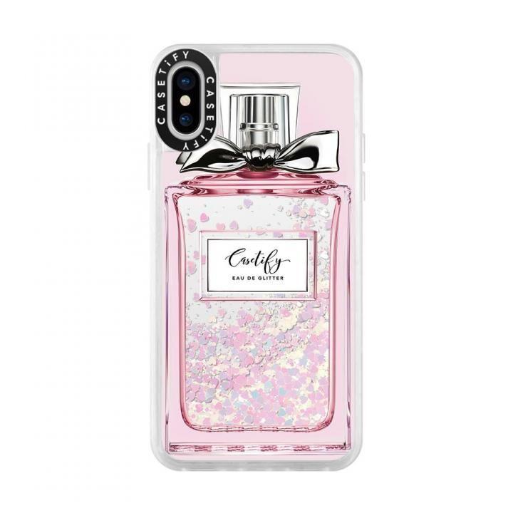 iPhone XS/X ケース Casetify FEMME EAU DE 2 glitter pastel pink iPhone XS/X_0