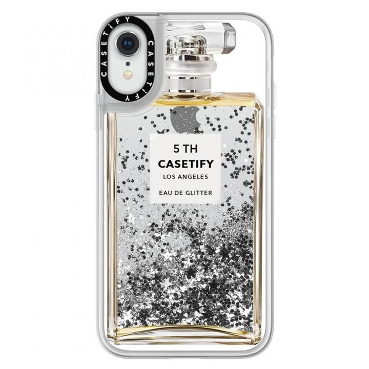 iPhone XR ケース Casetify MISS PERFUME 2 glitter silver iPhone XR_0