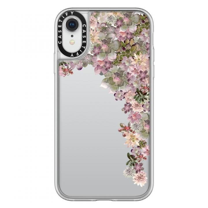 【iPhone XRケース】Casetify MY SUCCULENT GARDEN ROSE grip clear iPhone XR_0