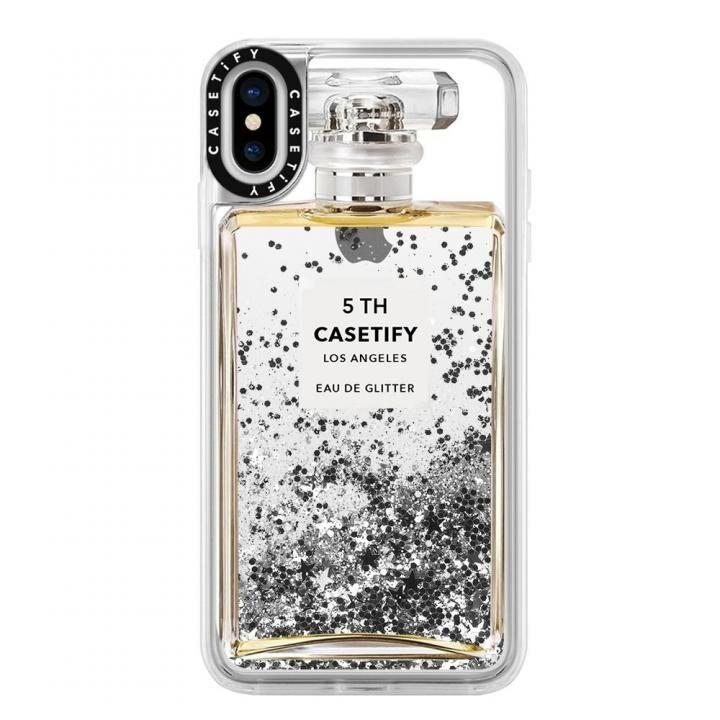 iPhone XS Max ケース Casetify MISS PERFUME 2 glitter silver iPhone XS Max_0