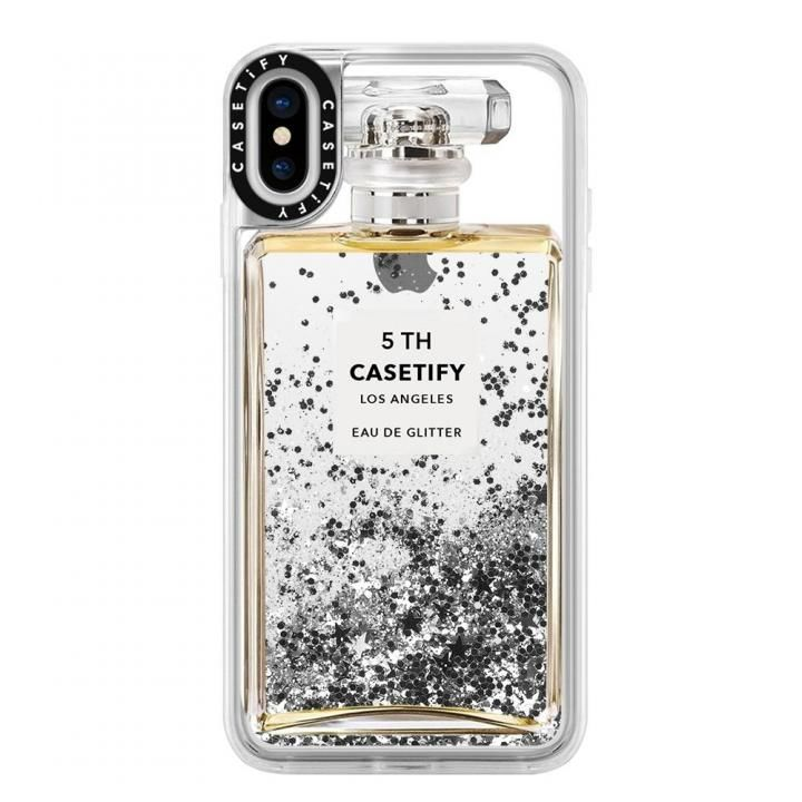iPhone XS Max ケース Casetify MISS PERFUME 2 glitter silver iPhone XS Max_0