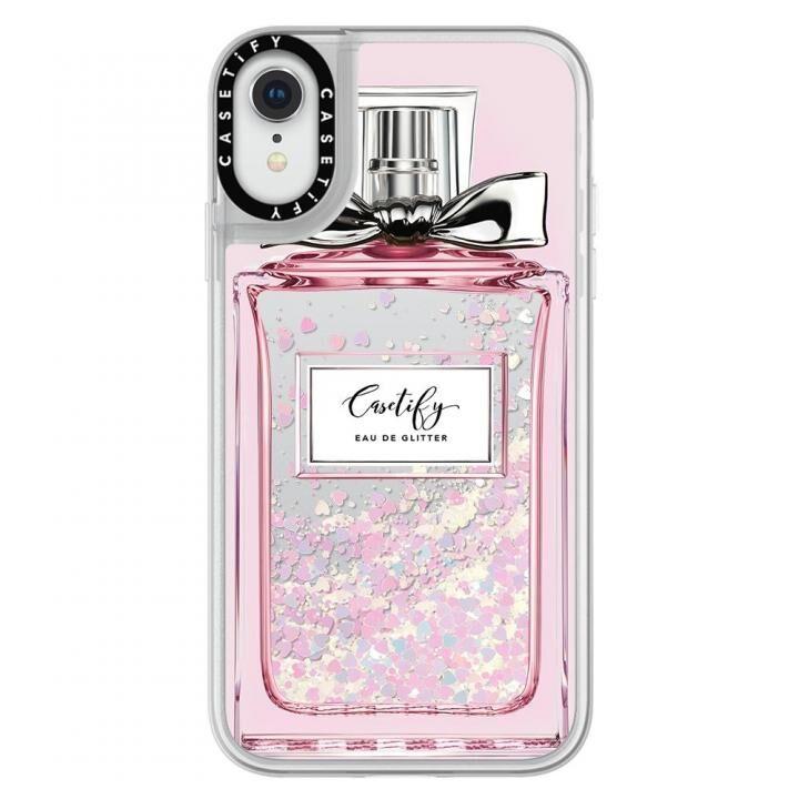 iPhone XR ケース Casetify FEMME EAU DE 2 glitter pastel pink iPhone XR_0