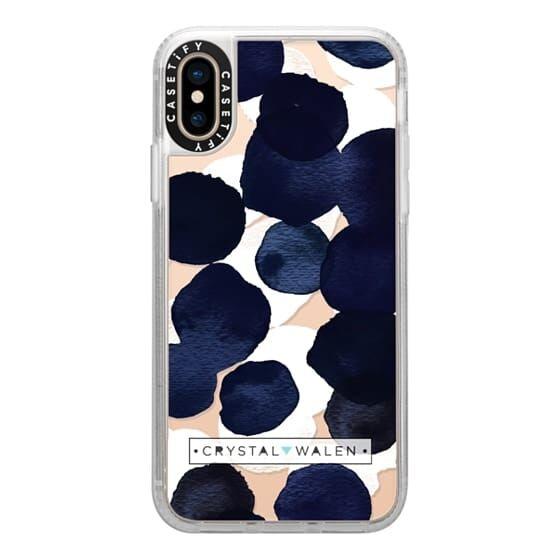 【iPhone XSケース】Casetify Indigo White Dots Clear Grip Case iPhone XS_0