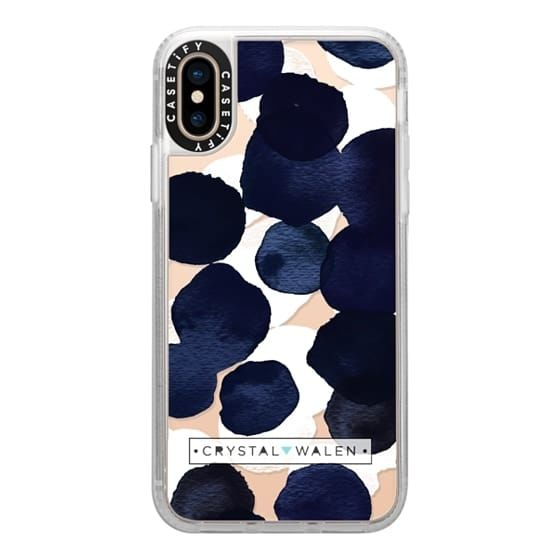 iPhone XS ケース Casetify Indigo White Dots Clear Grip Case iPhone XS_0