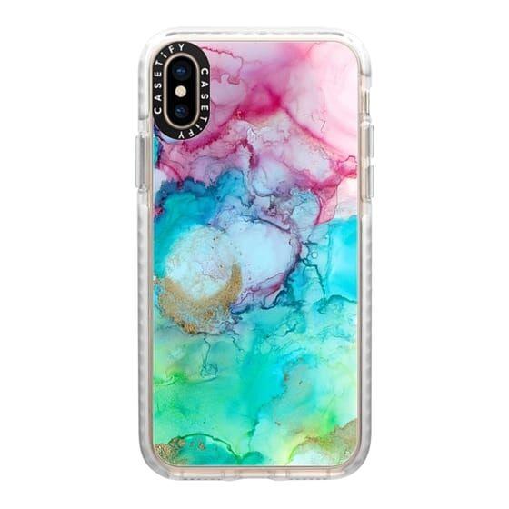 【iPhone XSケース】Casetify Mermaid Water Grip Case iPhone XS_0