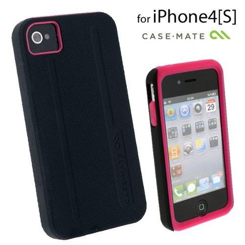 Case-Mate CM01587 iPhone 4/4s用 ハイブリッドタフケース ブラック/ピンク_0