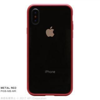 【iPhone X ケース】クリスタルアーマー メタルバンパー  メタルレッド iPhone X
