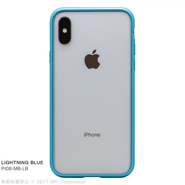 iPhone X ケース クリスタルアーマー メタルバンパー  ライトニングブルー iPhone X_0