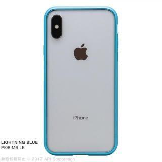 【iPhone X ケース】クリスタルアーマー メタルバンパー  ライトニングブルー iPhone X