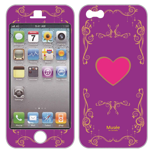 【iPhone SE/5s/5ケース】iPhone5 NanoSkin purple heart_0