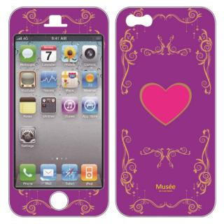 【iPhone SE/5s/5ケース】iPhone5 NanoSkin purple heart