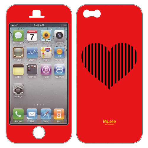 iPhone SE/5s/5 ケース iPhone5 NanoSkin red bigheart_0