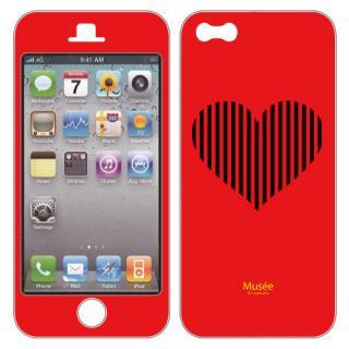 iPhone5 NanoSkin red bigheart