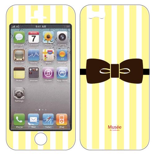 【iPhone SE/5s/5ケース】iPhone5 NanoSkin white yellow tie_0