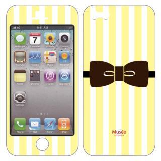 iPhone SE/5s/5 ケース iPhone5 NanoSkin white yellow tie