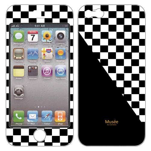 iPhone SE/5s/5 ケース iPhone5 NanoSkin white chequered_0