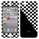 iPhone5 NanoSkin white chequered