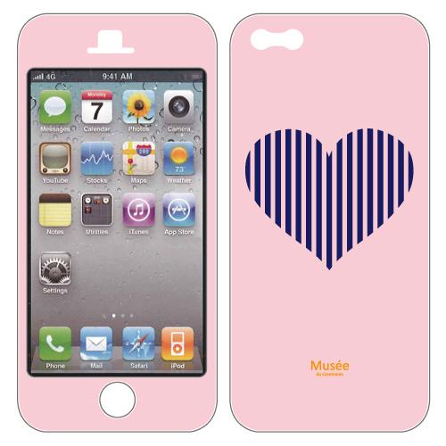 【iPhone SE/5s/5ケース】iPhone5 NanoSkin pink bigheart 02_0