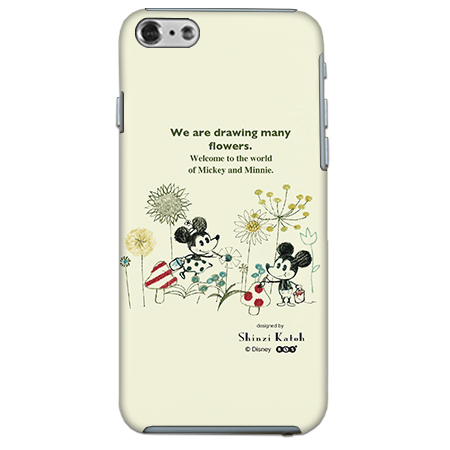 ShinziKatohDesign ディズニーケース ミッキー&ミニー お絵描き iPhone 6