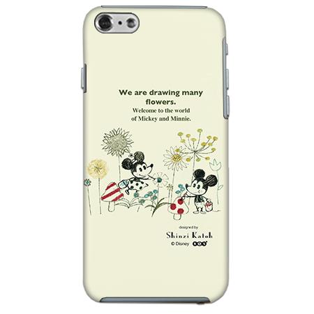 【iPhone6ケース】 ShinziKatohDesign ディズニーケース ミッキー&ミニー お絵描き iPhone 6_0