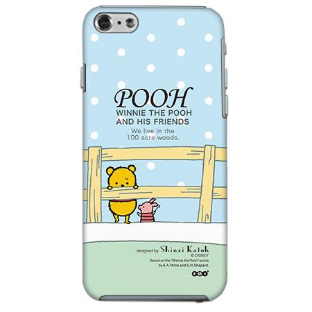 【iPhone6ケース】ShinziKatohDesign ディズニーケース プーさん 青色 iPhone 6_0