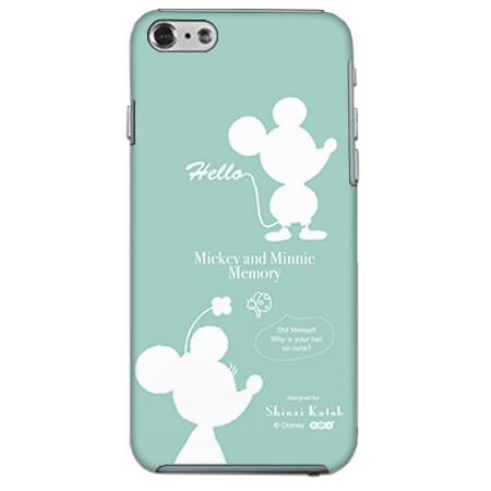 ShinziKatohDesign ディズニーケース ミッキー&ミニー シルエット iPhone 6